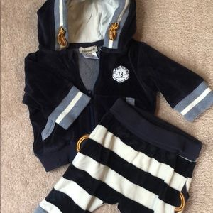 Timberland infant velour tracksuit